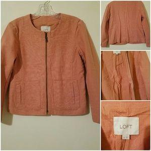 *Loft*  Ann Taylor Soft Pink Blazer Sz 0